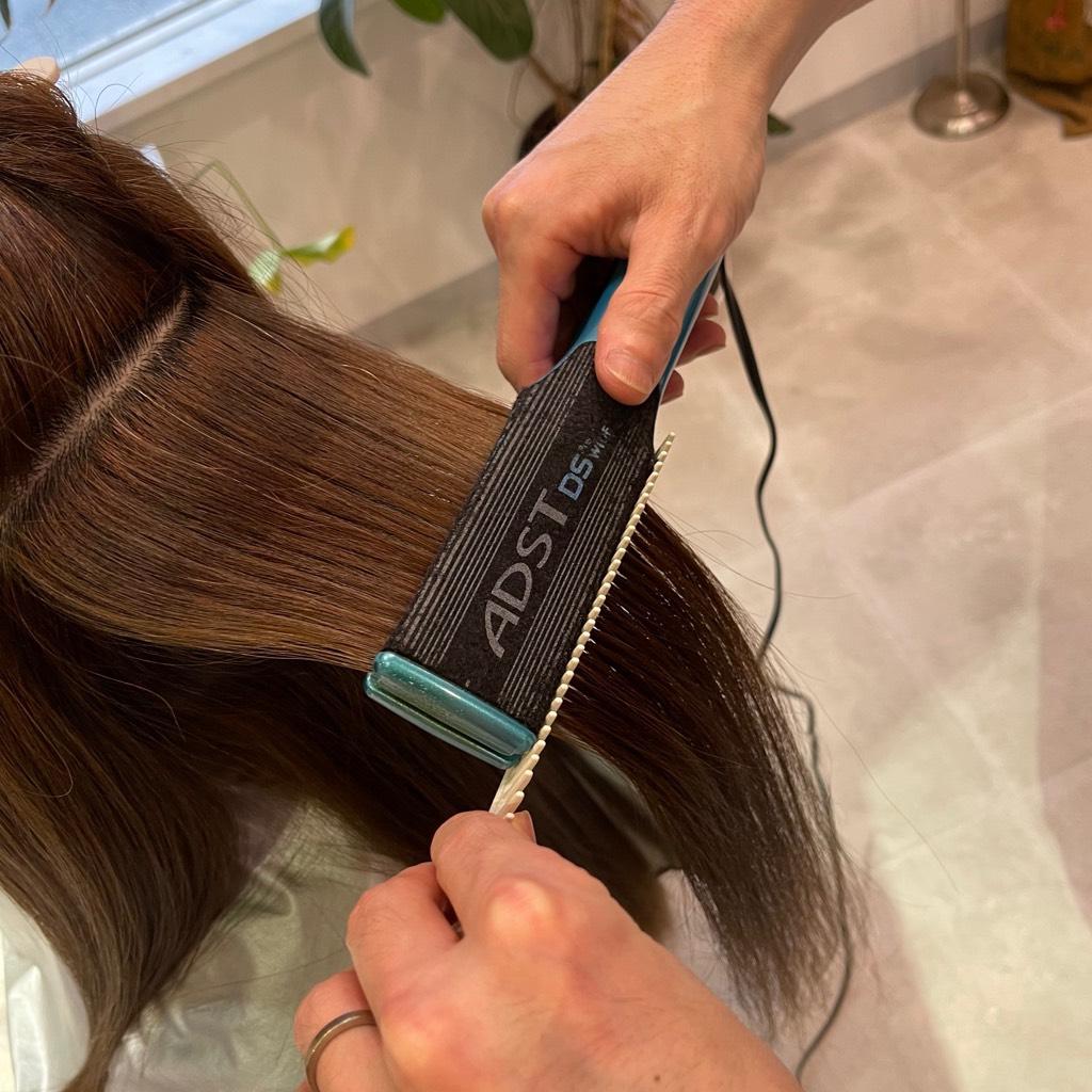 小倉南区の髪質改善リーブルのアイロンで定着